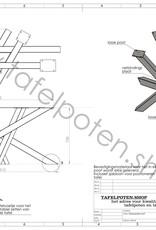 Tafelpoten.shop Industrieel Twist tafelonderstel 8x8