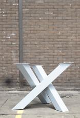 Tafelpoten.shop Witte Twist rond tafelpoot 12x12 cm