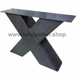 Tafelpoten.shop Industriële X salontafelpoten 12x12cm