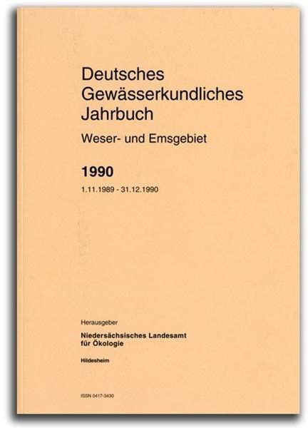 DEUTSCHES GEWÄSSERKUNDLICHES JAHRBUCH WESER-EMSGEBIET 1990