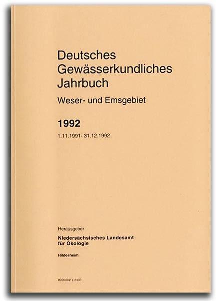 DEUTSCHES GEWÄSSERKUNDLICHES JAHRBUCH WESER-EMSGEBIET 1992