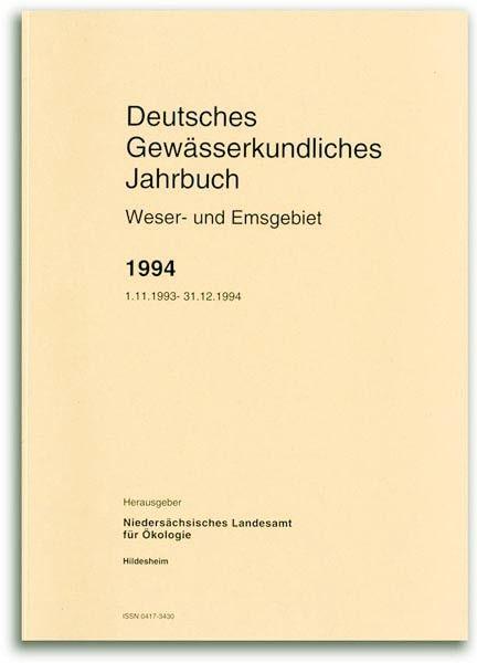 DEUTSCHES GEWÄSSERKUNDLICHES JAHRBUCH WESER-EMSGEBIET 1994