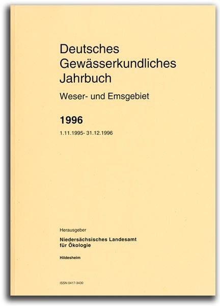 DEUTSCHES GEWÄSSERKUNDLICHES JAHRBUCH WESER-EMSGEBIET 1996
