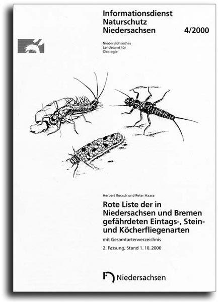 ROTE LISTE DER GEFÄHRDETEN EINTAGS-, STEIN- UND KÖCHERFLIEGENARTEN NIEDERSACHSEN (4/2000)