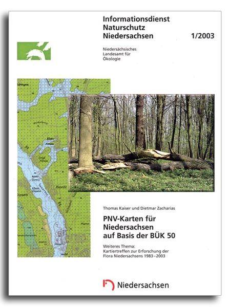 PNV-KARTEN FÜR NIEDERSACHSEN AUF BASIS DER BÜK 50 (1/03)