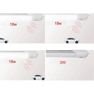 LED Röhre, T8, 18W, 1200mm, MW Sensor, Standby-Modus 3W