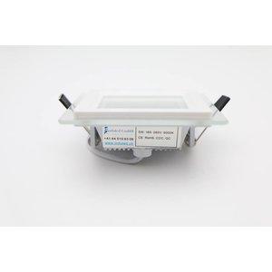 EPISTAR LED Einbauleuchte, 100x100mm, 5w, Glasrand, Epistar Chips (SMD 5730)