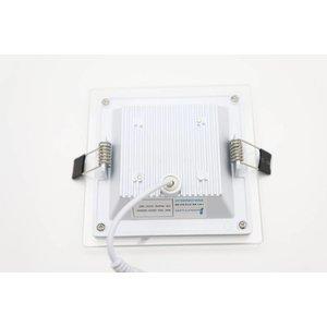 EPISTAR LED Einbauleuchte, 120x120mm, 9w, Glasrand, Epistar Chips (SMD 5730)
