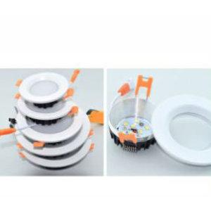EPISTAR LED Einbauleuchte-Fix Milchglas, 7W, SMD Epistar Chip