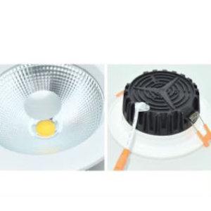 EPISTAR LED Einbauleuchte-Fix Klarglas, 12W, COB Epistar Chip