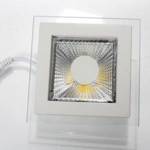 EPISTAR LED Einbaupanel mit Glasrand , 5W, COB Epistar Chip