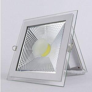 EPISTAR LED Einbaupanel mit Glasrand , 18W, 200mm, COB Epistar