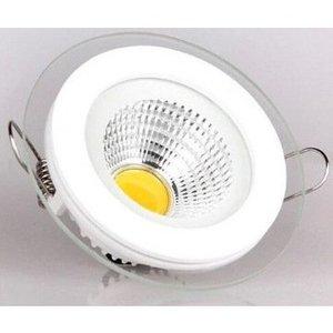 EPISTAR LED Einbaupanel mit Glasrand , 5W, 100mm, COB Epistar Chip