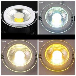 EPISTAR LED Einbaupanel mit Glasrand , 12W, 160mm, COB Epistar Chip