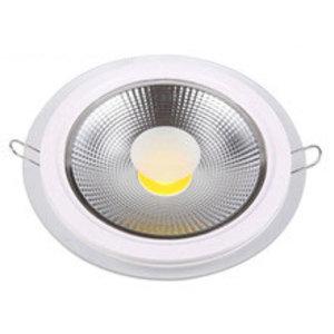 EPISTAR LED Einbaupanel mit Glasrand , 18W, 200mm, COB Epistar Chip