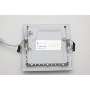 EPISTAR LED Einbauleuchte, 100x100mm, 5w, Epistar Chips (SMD 5730)