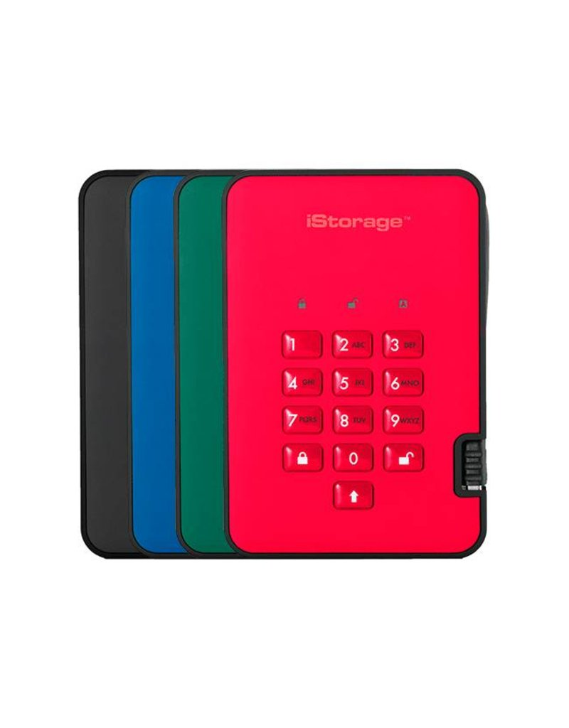 iStorage diskAshur2 Encrypted USB3.1 Portable Hard Drive -  2TB
