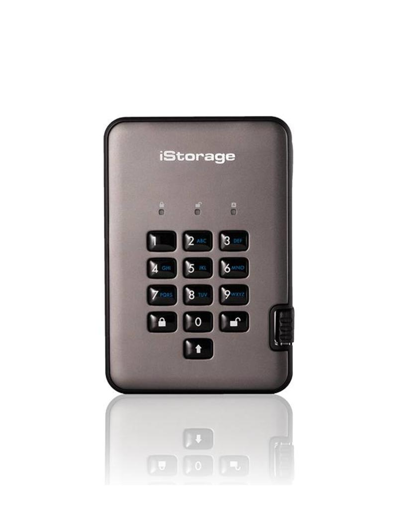 iStorage diskAshur Pro2 Encrypted Portable Hard Drive -  1TB
