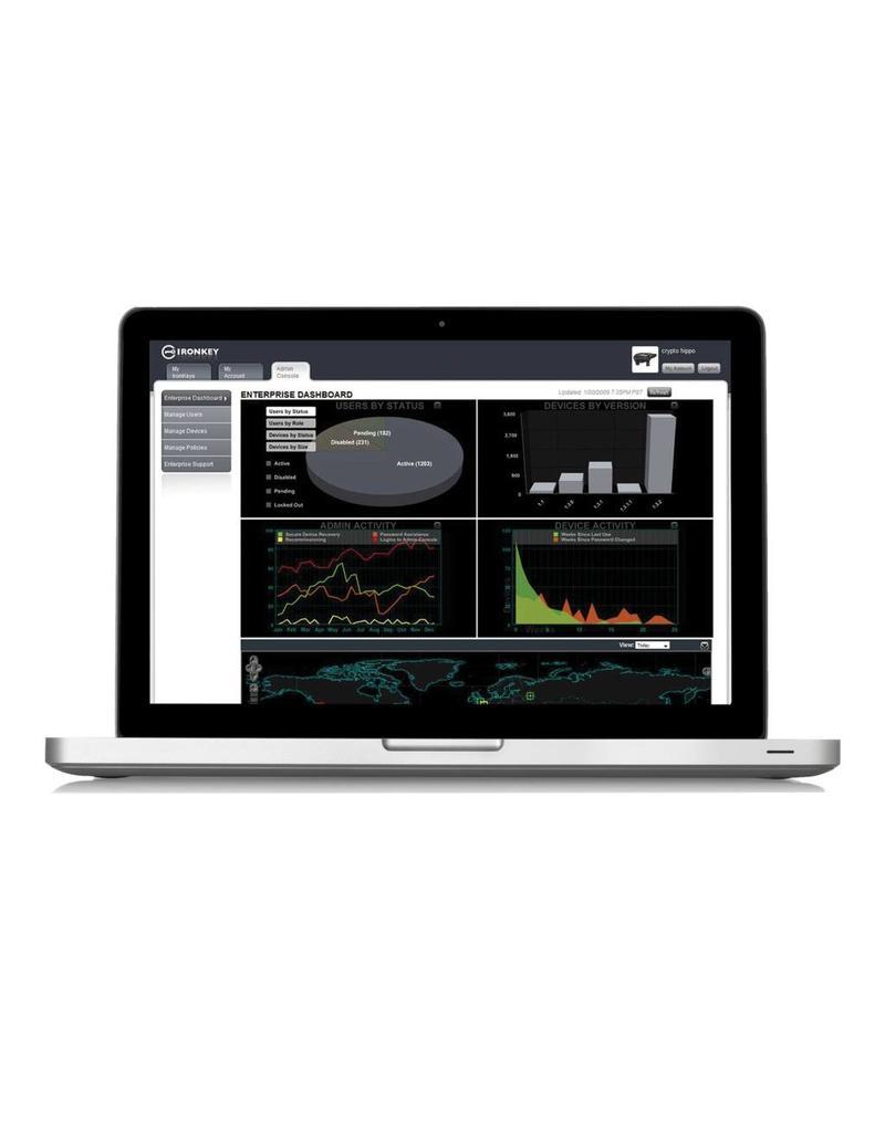 IronKey 1 Jahr Management Service und Anti-Malware für ein IronKey EMS handhabbares Gerät.