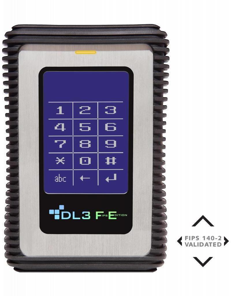 DataLocker DataLocker DL3 FE 4TB hardwarematig versleutelde externe SSD (FIPS Edition) met 2-voudige 256-Bit hardwarematige AES Encryptie en 2 Factor Authenticatie