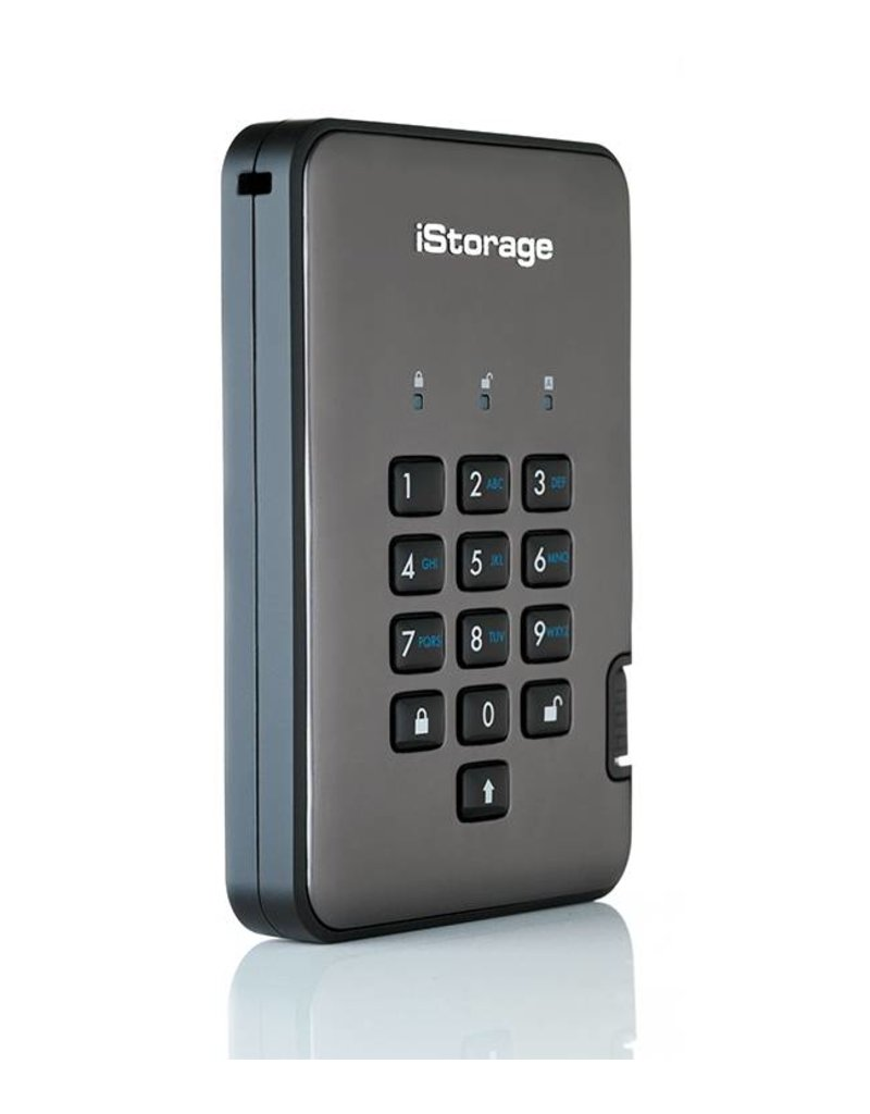 iStorage diskAshur Pro2 Encrypted Portable Solid State Disk - 1TB