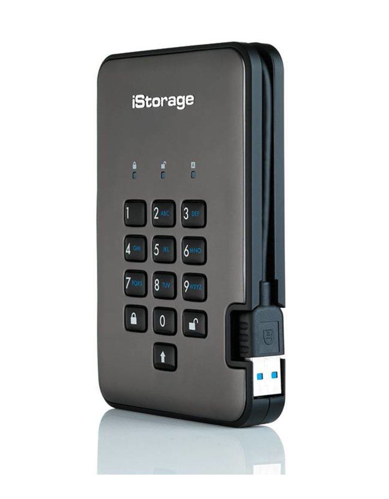 iStorage diskAshur Pro2 Encrypted Portable Solid State Disk - 512GB
