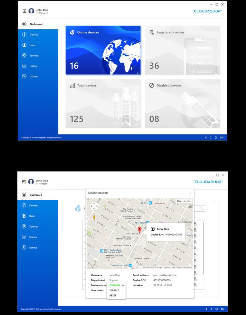 iStorage cloudAshur Management Console 1-Jahres Geräte Lizenz pro Einheit