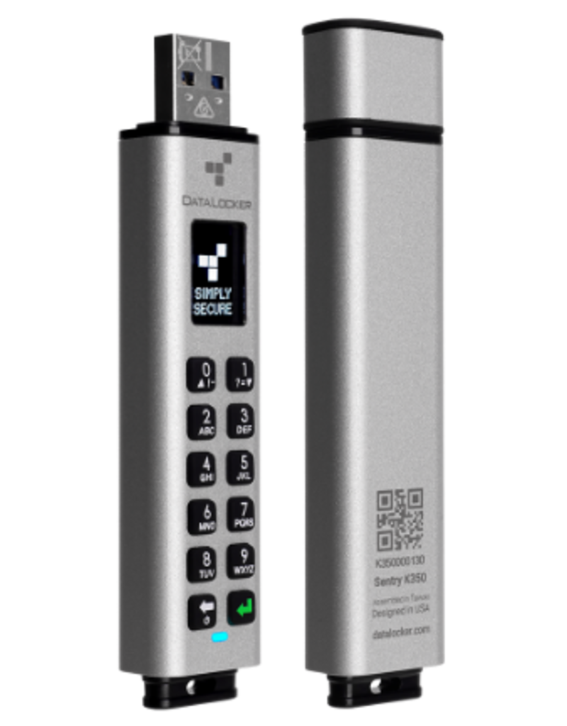 DataLocker Sentry K350 versleuteld FIPS 140-2 niveau 3 toetsenbord Micro SSD 16GB