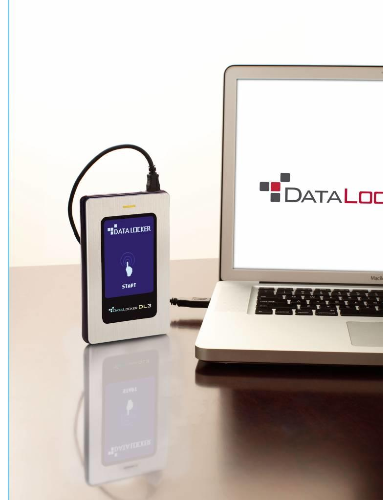 DataLocker DataLocker DL3 FE 500GB External Hard Drive FIPS Edition with Two Pass 256-Bit AES Encryption Mode Hardware Data Encryption