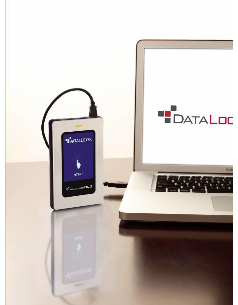 DataLocker DataLocker DL3 FE 512GB External Solid State Drive FIPS Edition with Two Pass 256-Bit AES Encryption Mode Hardware Data Encryption with 2 Factor Authentication