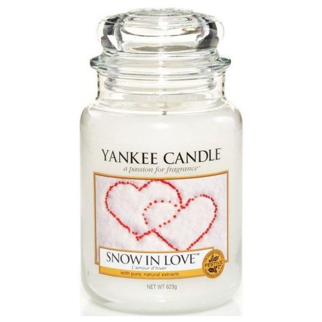 Snow in love large jar