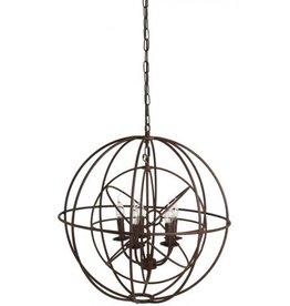 light&living Hanglamp 5 L E14 dia 66 x73cm ruggiero roest