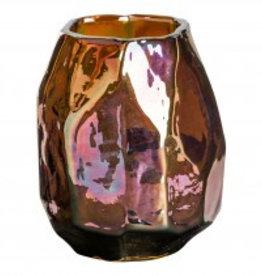 Valeria gold glass vase s