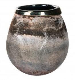 Mersh black round glass vase s