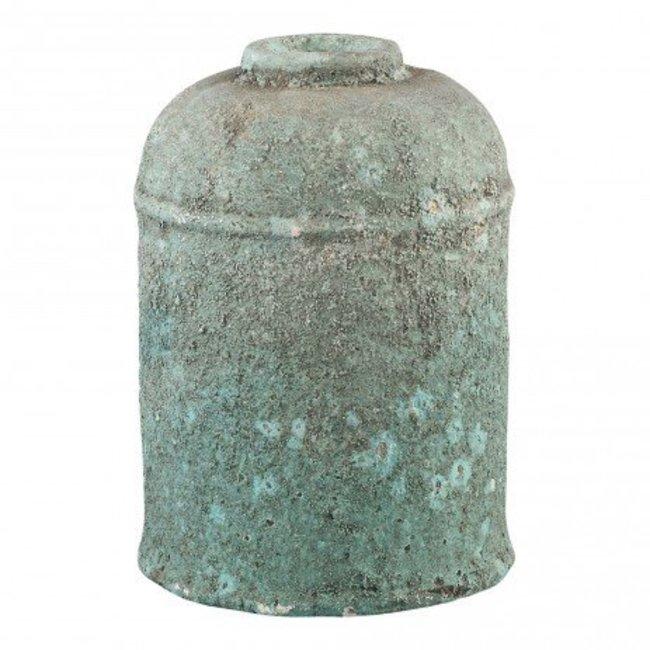 Cliff grey Antique ceramic round high pot s
