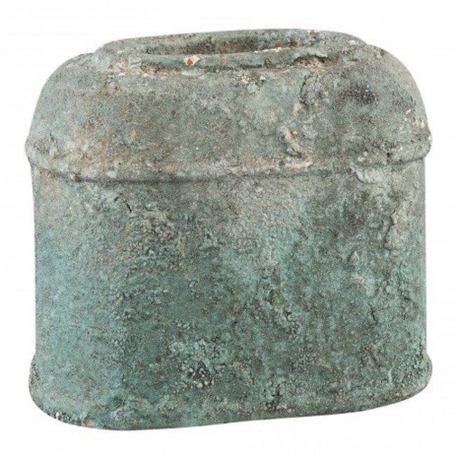 Cliff grey Antique ceramic ovale pot m