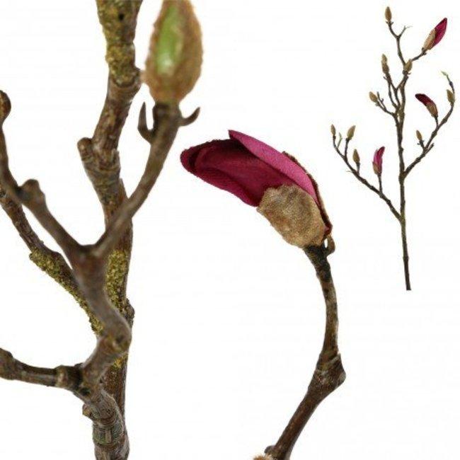 Magnolia kunstbloem paarse knop s
