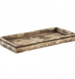PTMD Finley smoke grey cement plate rectangle L