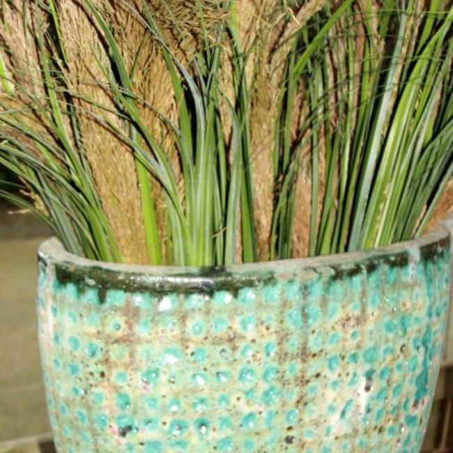 Seco green ceramic ovale high pot m 49x28xH48