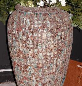 PTMD seco green ceramic pot high edge L.dia 55 xH93 cm