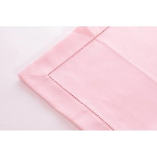 Simla Tafelkleed polyvis pastel pink 150x250with hemstitch