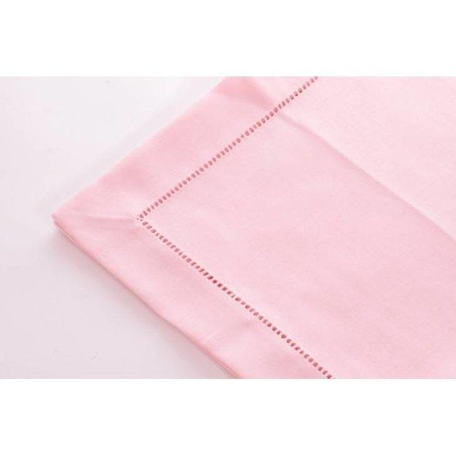 Simla Tafelkleed polyvis pastel pink 150x250with hemstitch