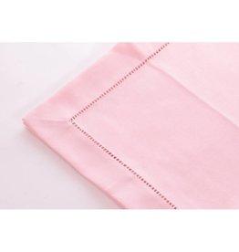 Simla Tafelkleed polyvis pastel pink 170x 300 hemstitch