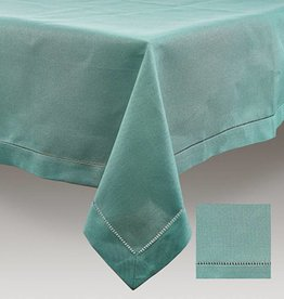 Tafelnap sea green W hemstitch 170x300