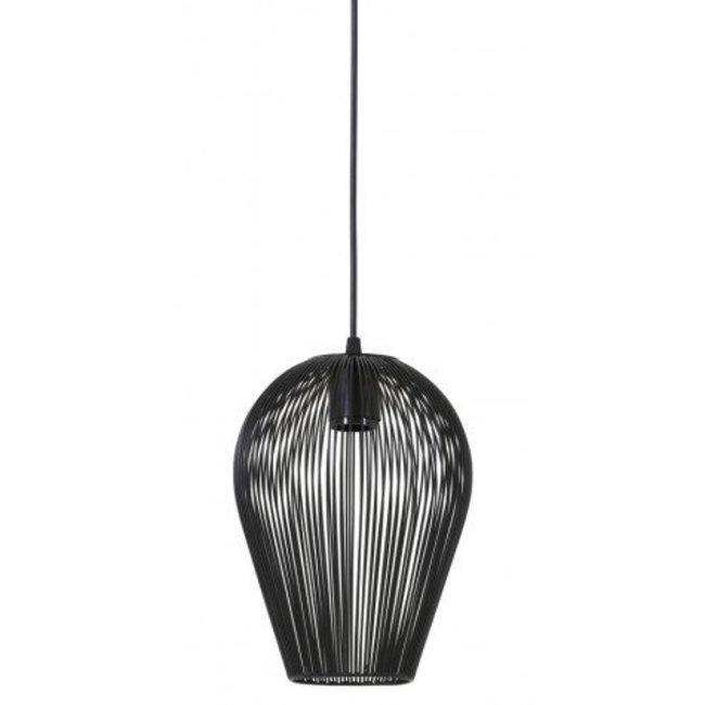 Hanglamp Abby mat zwart dia 19x26 cm