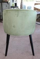 armstoel LOT lukas 459 velours green houten poten black