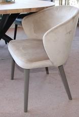 armstoel LOT lukas 320 velours grey houten poot grey wash
