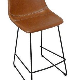counter chair Patricia ginger pu + black leg