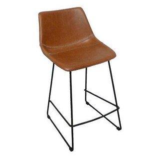 counter chair Patricia ginger pu + black leg