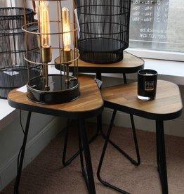 bijzettafels alfa charcoal +wood set /3